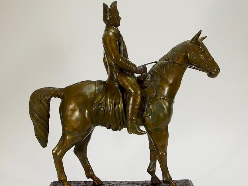 Metal Art Labrador Horse